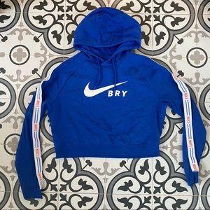 Barry's x Nike cropped hoodie